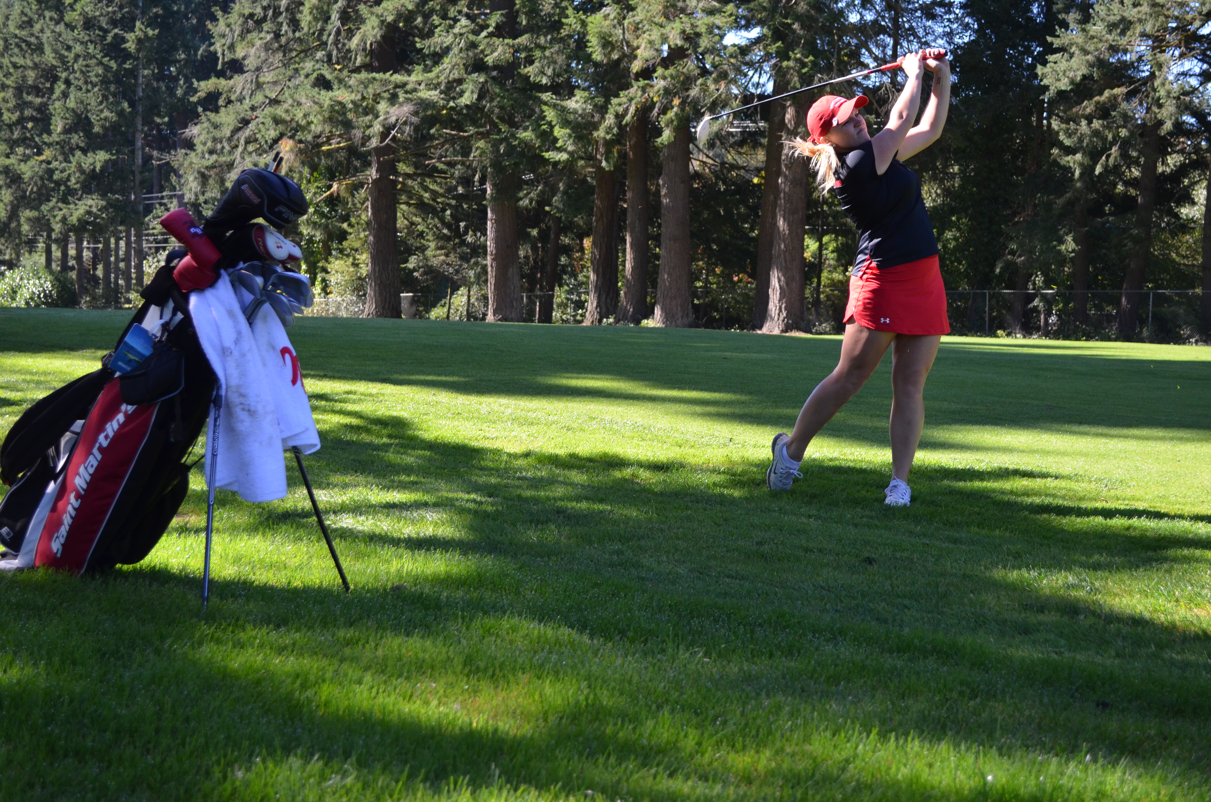 """The phrase """"life in balance"""" has always summed up Division II athletics for SMU golfer Grace Dyer."""