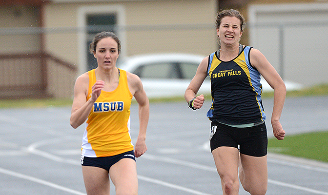 Blair Street competed for Montana State Billings at the GNAC Outdoor Track and Field Championships in both the 100 meters and 200 meters.