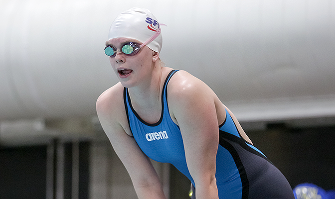Claudia Mathieu spends a lot of time in the pool as a distance freestyle specialist for the Clan's swimming team.