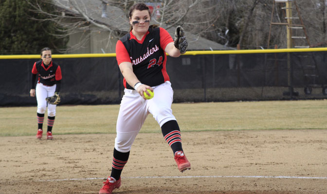 Noelle Wright of Northwest Nazarene allowed just two hits in a 1-0 loss to Saint Martin's Friday.