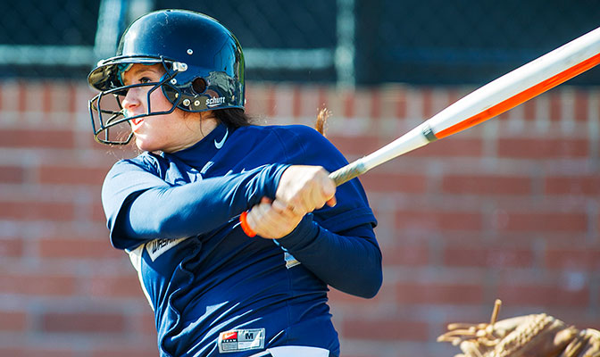 Lynsey Amundson was named GNAC Player of the Week after batting .500 in the Vikings' series with Simon Fraser.