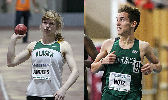 Karolin Anders was named the Outstanding Performer of the Meet on the women's side while Dominik Notz won the 3,000 meters and 5,000 meters. Photo by Loren Orr.