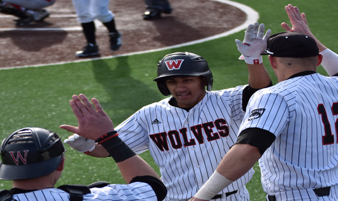 Western Oregon earned the first four-game series sweep of the GNAC baseball season, jumping from fifth to second place in the standings.