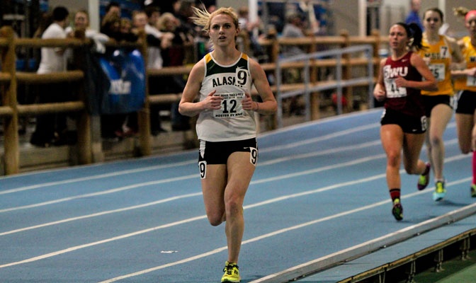 UAA senior Ivy O'Guinn was among the Seawolves' All-Americans at last week's NCAA Indoor Championships, as her DMR team placed fourth.