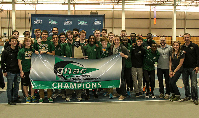 Alaska Anchorage scored 164 points in both the men's and women's competition for the first sweep of the team titles in meet history.