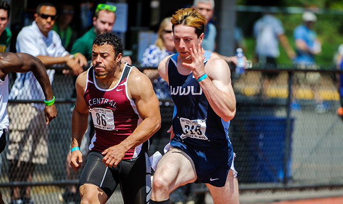 Alex Donigian's 20.93 seconds in the 200 meters at the Bryan Clay Invite bettered the previous record of 21.11 set by Western Oregon's Alex Hinshaw.