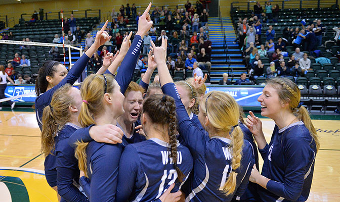 Western Washington came back from a 2-0 deficit to defeat Cal State San Bernardino in five sets in the finals.