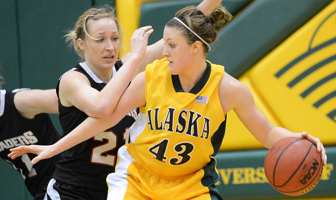 UAA's Kaylie Burns was selected the GNAC Player of the Week, while Northwest Nazarene's Megan Hingston (21) was an honorable mention selection. Hingston currently ranks 18th nationally in scoring.