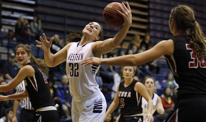 Britt Harris (32)  led the Vikings to two wins over nationally ranked teams in Las Vegas.