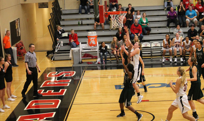 Megan Hingston (21) scored 43 points to lead Crusaders to two victories.