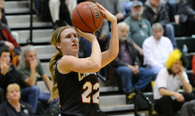 Chelsie Luke scored 18 points as the Crusaders won at Anchorage for the first time since 2005 Thursday (Photo by Sam Wassom)