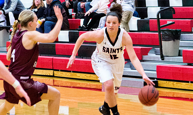 Krista Stabler's 38-point game in Saint Martin's win over Western Oregon ties her for the fifth best individual performance in GNAC history.