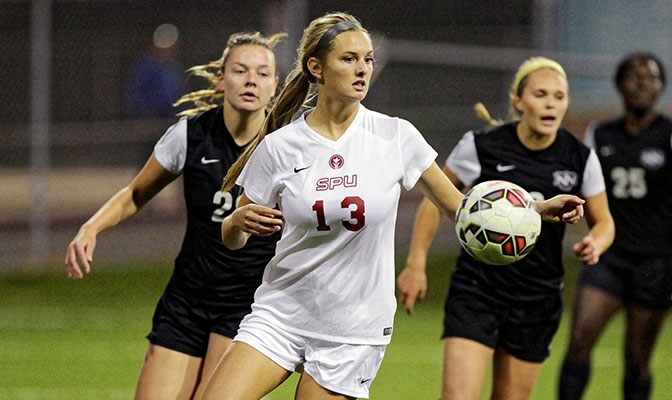 Seattle Pacific's Hannah Huesers became the 50th player in GNAC women's soccer history to score three goals in a match.