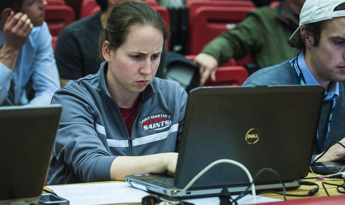 Katie Simons spent two years as SID at NCAA DII member St. Martin's University before taking a position in media relations with the Portland Timbers and Portland Thorns.