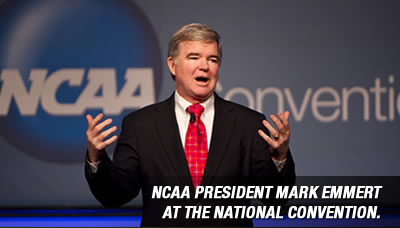 NCAA president Mark Emmert at the national convention