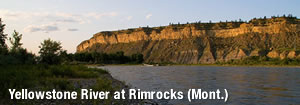 Yellowstone River at Rimrocks (Mont.)