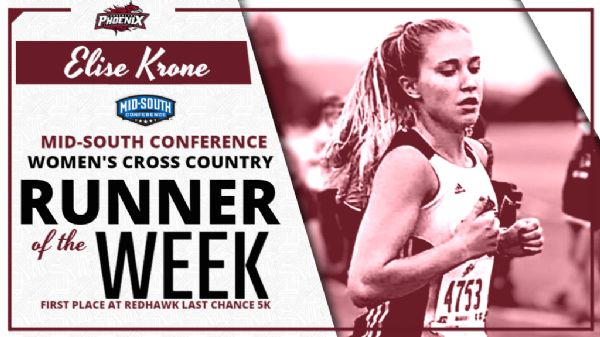 Krone tabbed MSC Women's Cross Country Runner of the Week