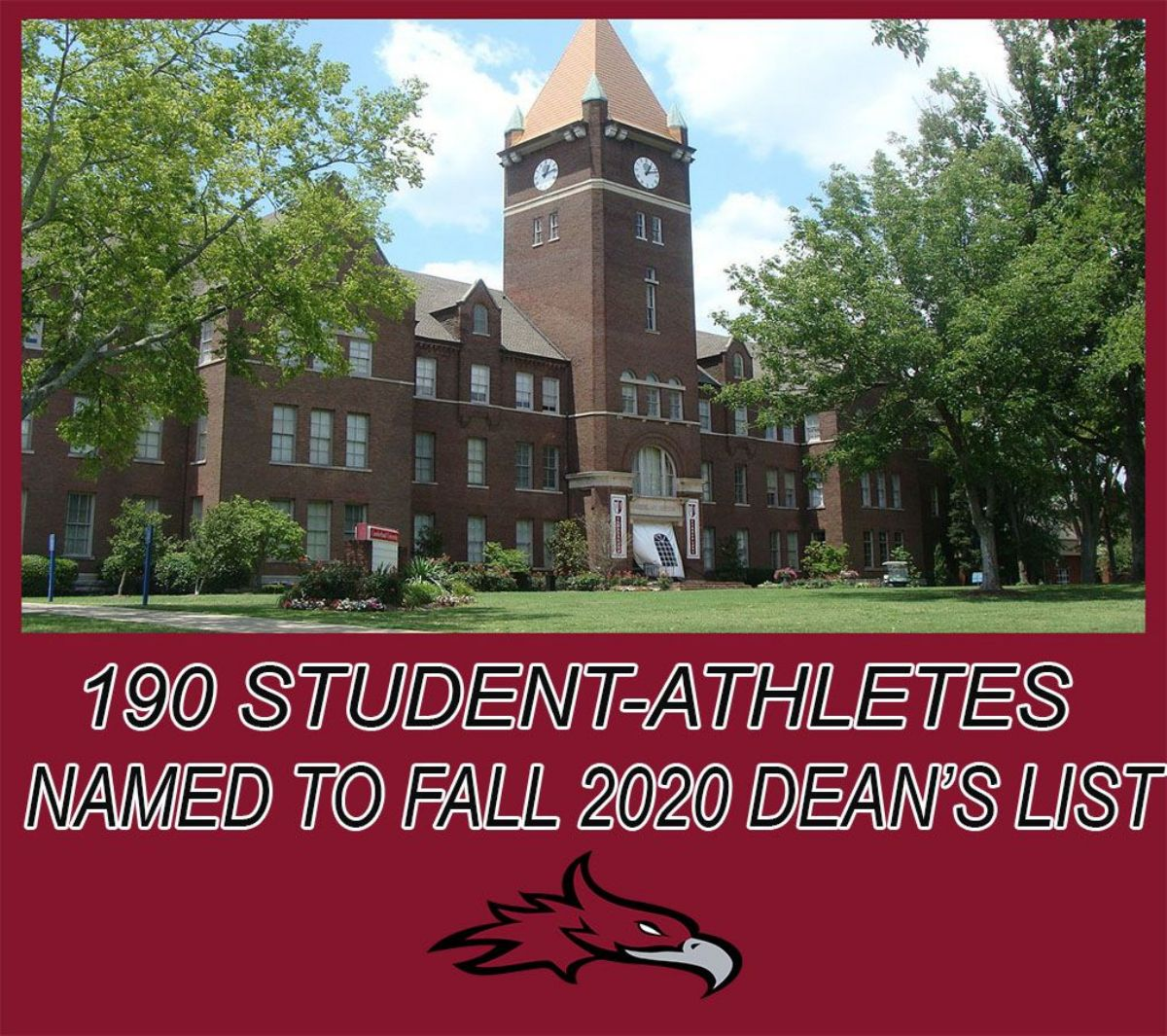 190 Student-Athletes named to Fall 2020 Dean's List
