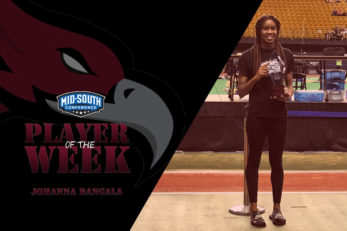 Bangala Wins Women's Indoor Mid-South Athlete of the Week