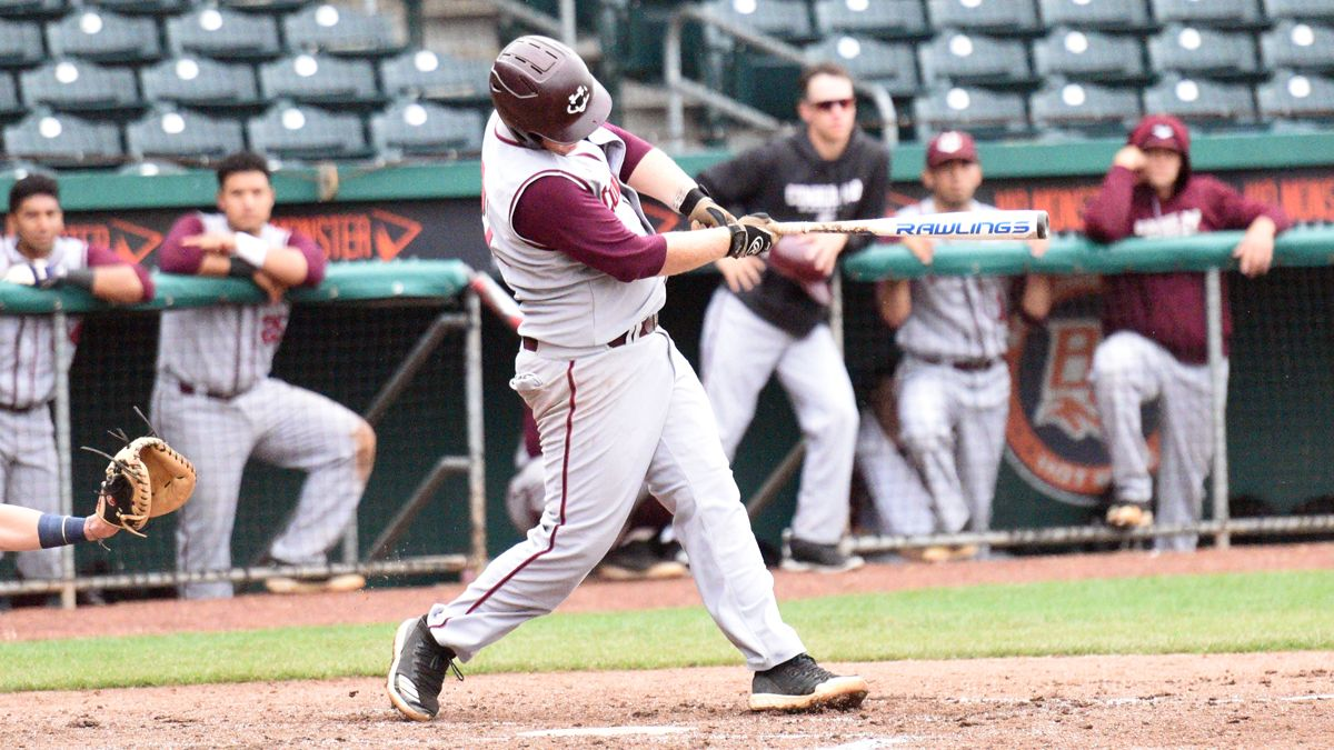 Tyler Jones drove in the go-ahead and winning runs with a single in CU's 3-2 win Saturday against the Cumberlands. (Credit Chris Wells, Mid-South Conference)