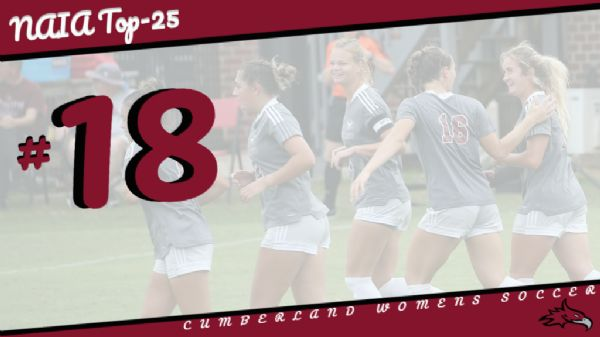 Women's Soccer moves up to No. 18