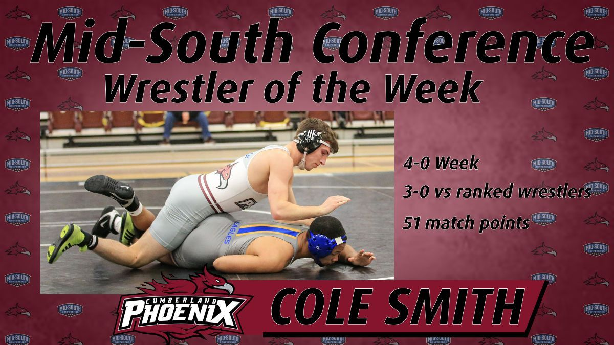 Smith tabbed MSC Wrestler of the Week