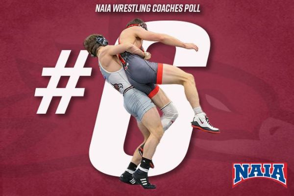 Cumberland Wrestling maintains No. 6 rank in the NAIA Coaches' Top 20 Poll