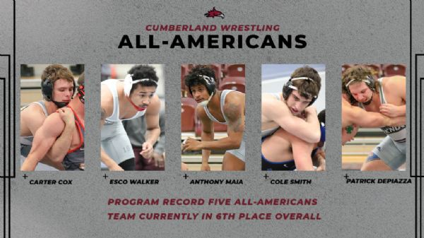 Wrestling sets Program Record in Day One of the National Championships