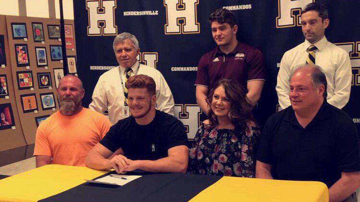 Hendersonville's Cunningham inks with CU wrestling