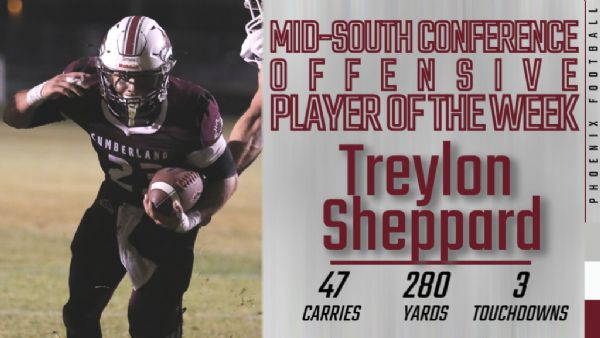 Sheppard earns MSC Offensive Player of the Week
