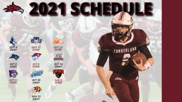 Cumberland University announces Fall 2021 Football Schedule
