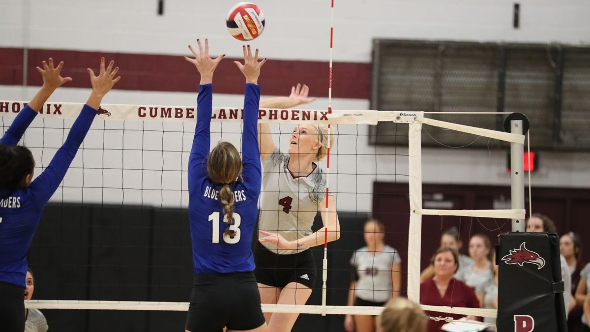 Women's Volleyball completes season sweep of Patriots, 3-1
