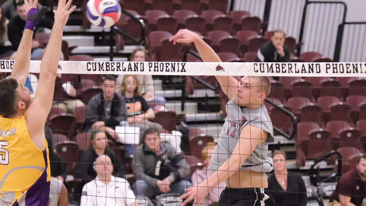 Men's volleyball falls to Lawrence Tech, Aquinas