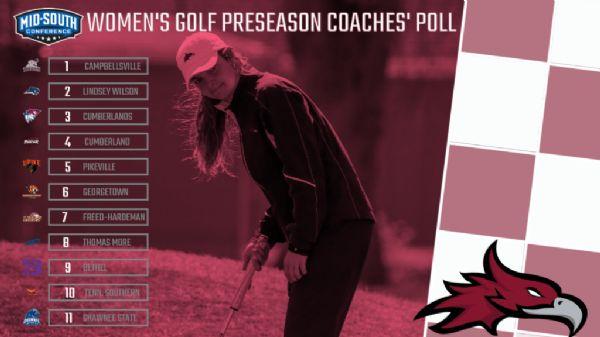 Cumberland WGOLF ranked fourth in MSC Preseason Coaches Poll