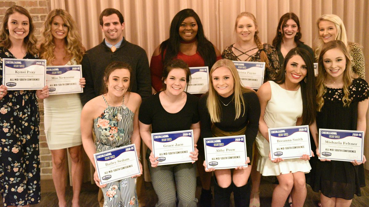 Four cheerleaders garner All-MSC accolades