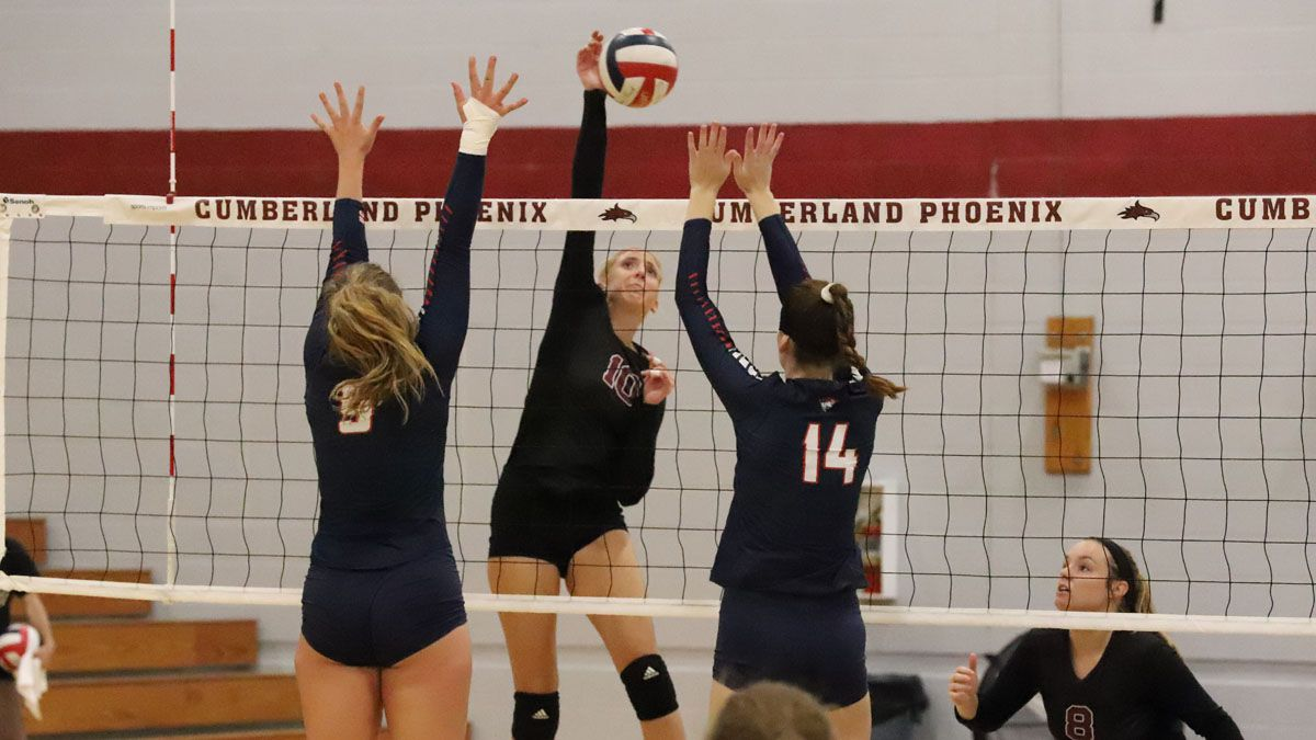 Volleyball drops hard-fought 3-1 decision to Patriots