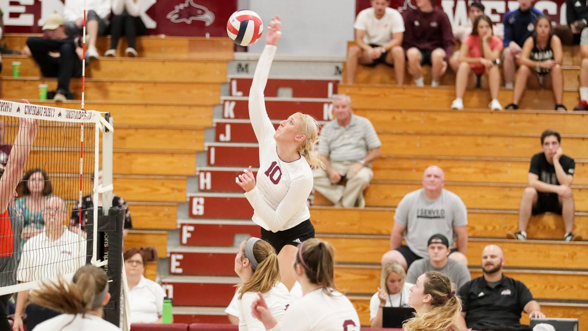 Women's Volleyball Splits on Day One of the Early Bird Invitational