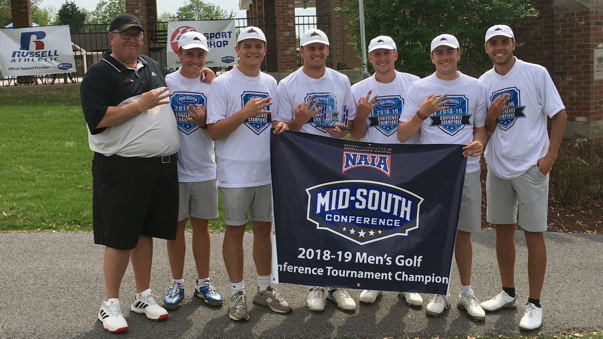 Men's golf claims third straight MSC Championships title
