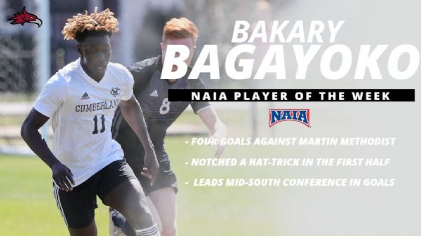 Bagayoko garners NAIA Offensive Player of the Week