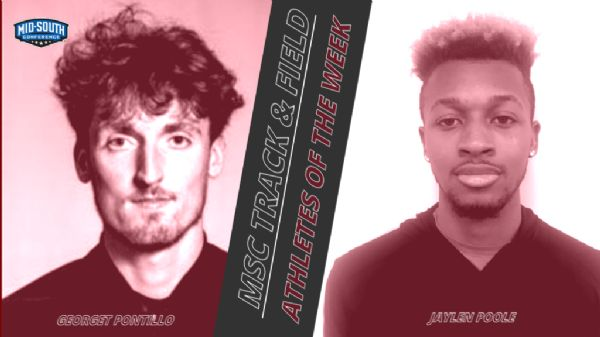 Georget Pontillo and Jaylen Poole awarded Track and Field Athletes of the Week