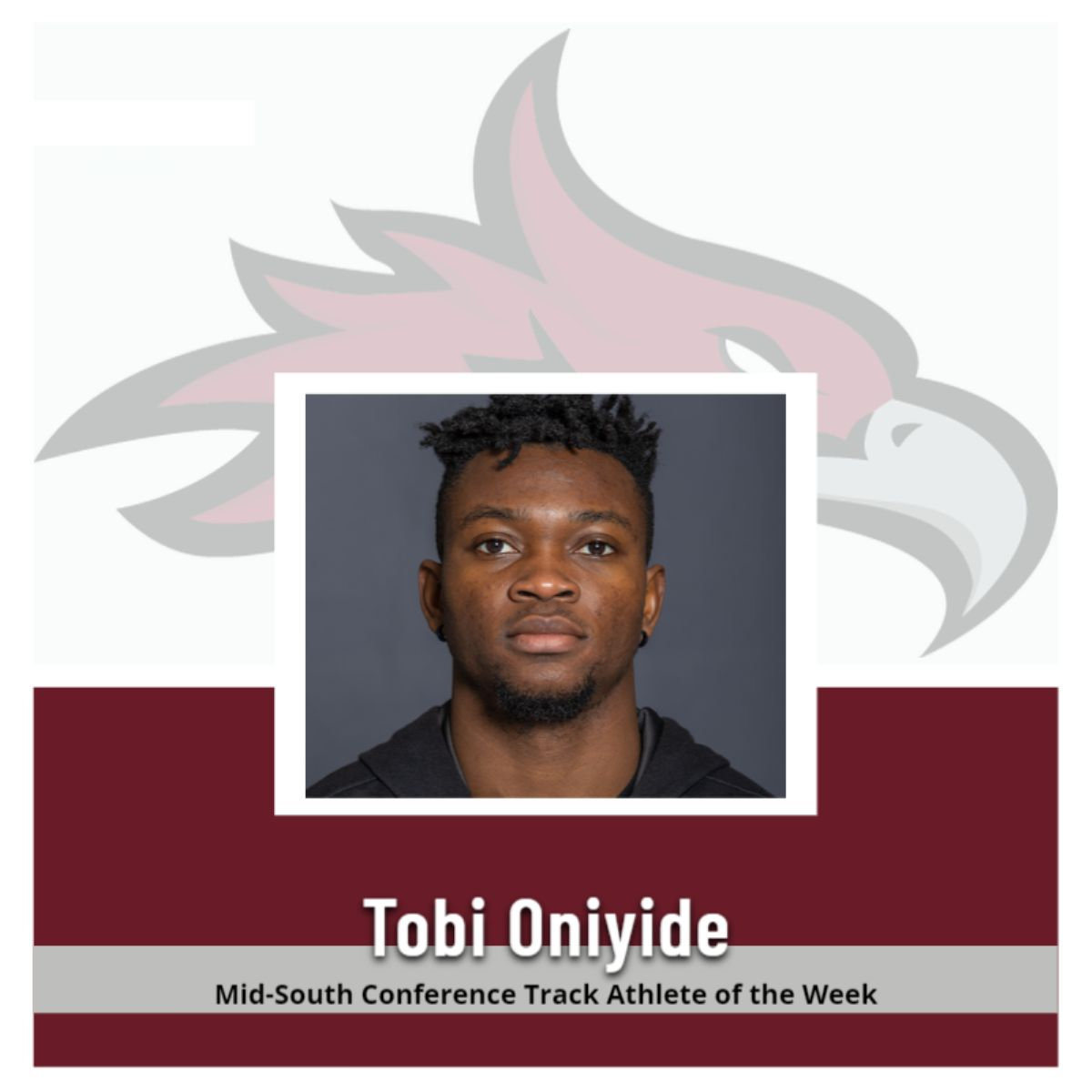 Oniyide Named MSC Track Athlete of the Week