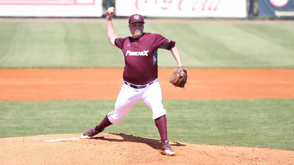 Jason Wullenwaber struck out 13 in 6.2 innings to get the victory in Friday's 13-3 win over Shawnee State. (Credit Bob Tamboli)