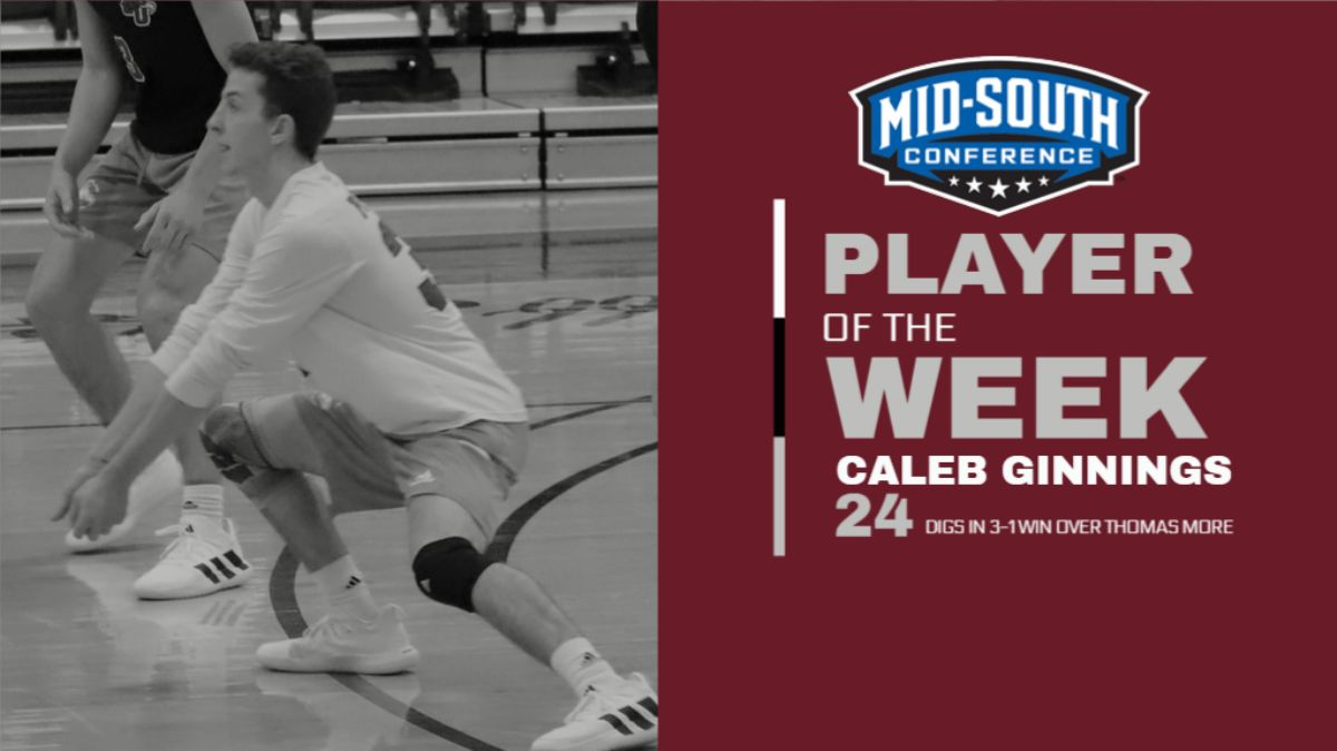 Cumberland's Ginnings receives MSC Defensive Player of the Week Award