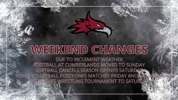 Athletics changes for the Weekend