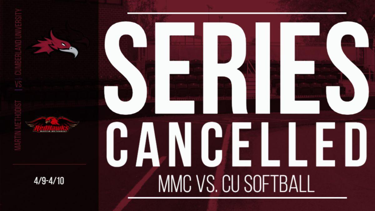 CU Softball weekend series against Martin Methodist canceled