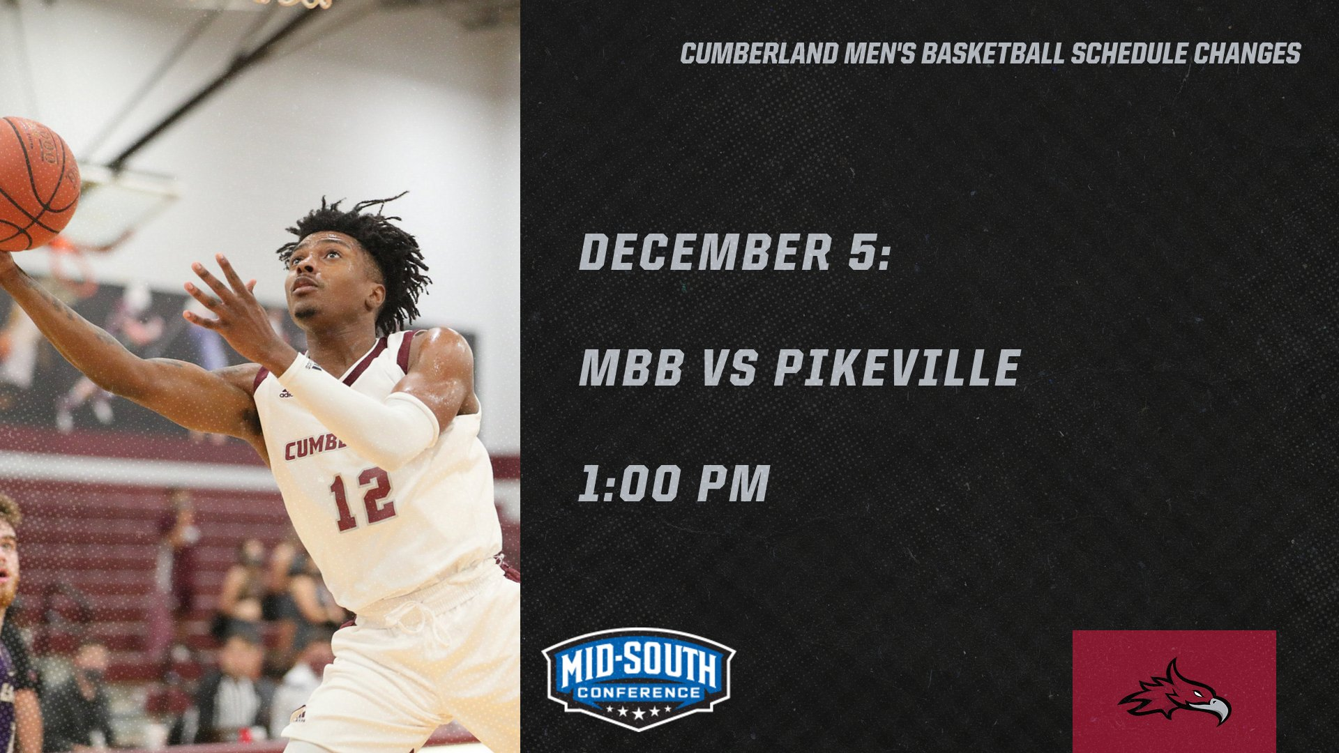 Additional Cumberland Basketball Schedule Changes