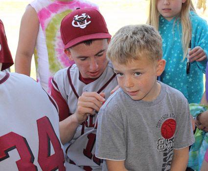 Community service, youth clinic highlight baseball's day