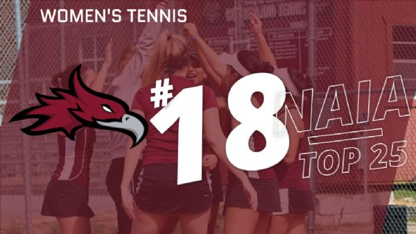 Women's Tennis moves down to No. 18 in NAIA Polls