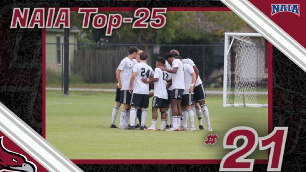 Men's Soccer back in the Polls at No. 21