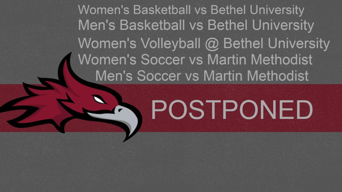 Cumberland announces postponements for Feb. 14, Feb. 15